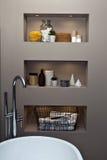 полотенце интерьера шара ванной комнаты Стоковые Фото