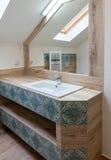 полотенце интерьера шара ванной комнаты Стоковое Изображение
