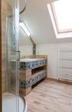 полотенце интерьера шара ванной комнаты Стоковые Фотографии RF