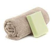 Полотенце и мыло Стоковые Фото