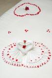 Полотенце Origami лебедя Стоковые Изображения