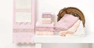 полотенце terry ткани мягкое Стоковая Фотография RF