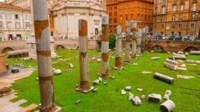 Под открытым небом музей - форум Trajan в Риме стоковое изображение