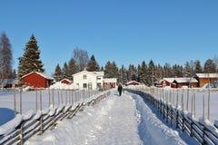 Под открытым небом музей Hägnan в Gammelstad Стоковое Фото