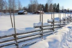 Под открытым небом музей Hägnan в Gammelstad Стоковые Фото