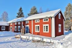 Под открытым небом музей Hägnan в Gammelstad Стоковое Изображение