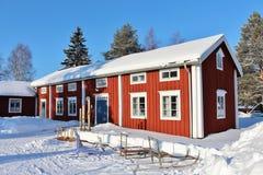 Под открытым небом музей Hägnan в Gammelstad Стоковые Изображения
