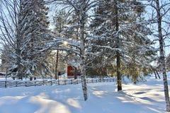 Под открытым небом музей Hägnan в Gammelstad Стоковое Изображение RF