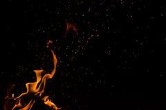 Под открытым небом огонь Стоковые Изображения
