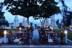Под открытым небом ресторан на Koh Samui Стоковые Фото