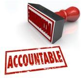 Подотчетный штемпель задавая порицание кредита ответственности бесплатная иллюстрация