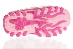 Подошва ботинка девушки спорта Стоковые Фото