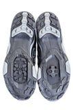 Подошва специального ботинка контакта прикрепленного к педали велосипеда Стоковая Фотография RF