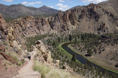 Пол долины нечестного реки Стоковая Фотография