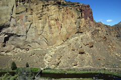 Пол долины нечестного реки Стоковое Фото