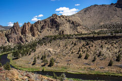 Пол долины нечестного реки стоковое изображение rf