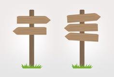 подписывает деревянное Стоковое фото RF