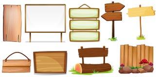 подписывает деревянное Стоковые Изображения