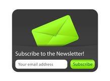Подпишитесь к элементу вебсайта информационого бюллетеня Стоковые Изображения RF