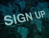 Подпишите вверх Стоковая Фотография RF