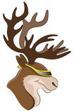подпишите вектор reindeer Стоковая Фотография RF