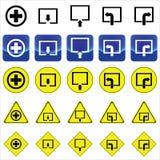 Подпишите для креста здоровья и выйдите, очаруйте, вектор поворота выведенный и правый Стоковые Изображения RF