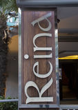 Подпишите для ночного клуба Reina в Стамбуле на ноче Стоковая Фотография