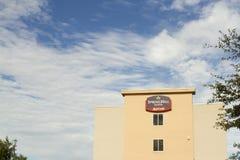 Подпишите для сюит Spring Hill, гостиницы цепи бренда Marriott стоковые изображения rf