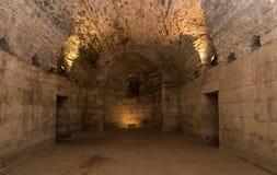 Подполье дворца Diocletian, разделения Стоковые Изображения