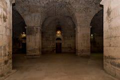 Подполье дворца Diocletian, разделения Стоковые Изображения RF