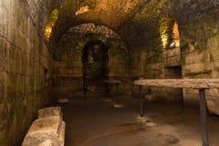 Подполье дворца Diocletian, разделения Стоковая Фотография