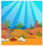 Под предпосылкой моря Стоковые Изображения RF