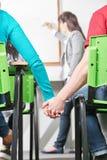 2 подростка в классе Стоковое Изображение