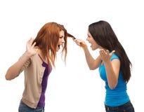 2 подростка имея бой и получая физический Стоковые Фотографии RF