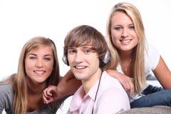3 подростка Стоковая Фотография