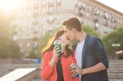 Подростки в влюбленности на дате Стоковое фото RF