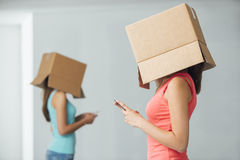 Подростки и социальная изоляция Стоковое Фото