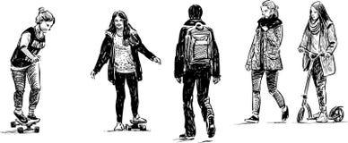Подростки на отдыхе Стоковое Изображение RF