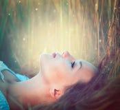 Подростковая модельная девушка Стоковые Фотографии RF