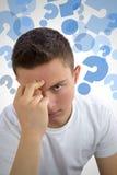 Подростковые вопросы и сомнения Стоковое Фото
