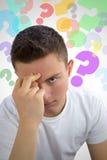 Подростковые вопросы и сомнения Стоковое Изображение