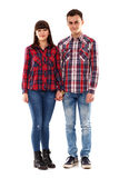 Подростковые дети на белой предпосылке стоковая фотография rf