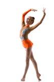 Подростковые танцы девушки балерины Стоковое фото RF