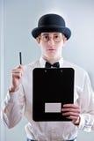 Подростковый молодой человек подчеркивая его пункт Стоковая Фотография
