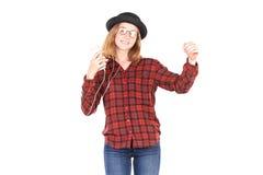 Подростковый любитель музыки Стоковое фото RF