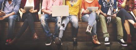 Подростков молодая команды концепция совместно жизнерадостная Стоковое Фото