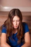 Подросток быть в дурном настроении Стоковое фото RF