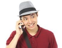 Подросток вызывать стоковое изображение