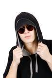 Подросток в клобуке стоковые изображения rf