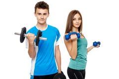 Подросток делая фитнес Стоковая Фотография RF